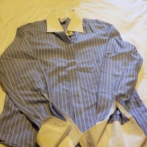 brooks brothers womans pinstripe longsleeve button
